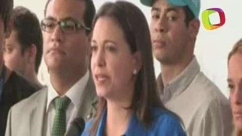 """Machado: """"El Gobierno de Venezuela me cobra por decir la..."""