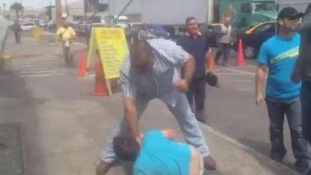 Detención ciudadana termina en paliza a delincuente