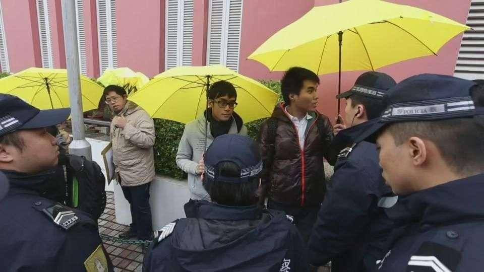 Macao prohíbe los paraguas ante visita de presidente chino