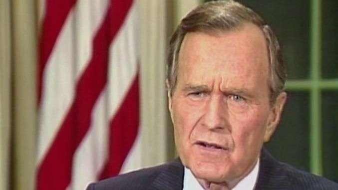 Hospitalizan a George Bush padre