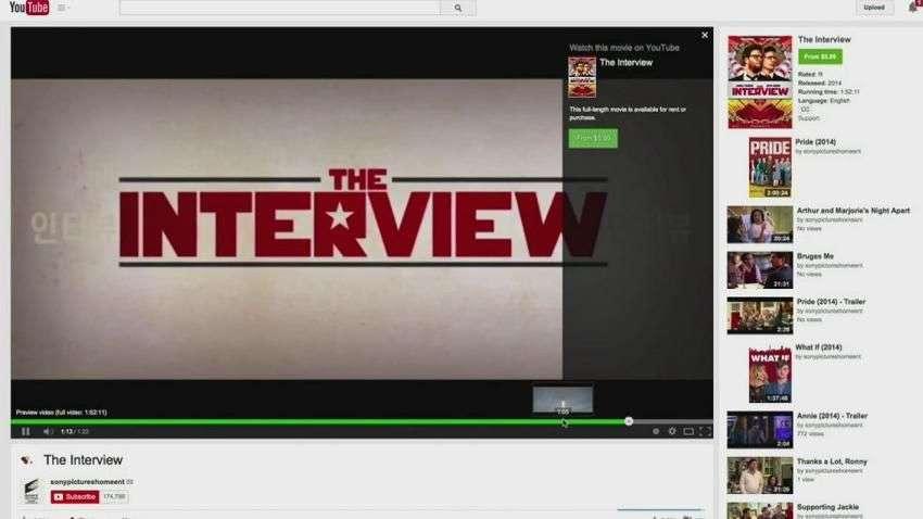 Sony estrena la polémica 'The Interview' en Youtube