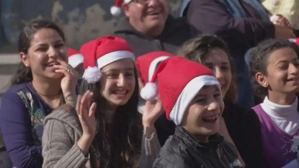 Cristianos desplazados en Irak celebraron la Navidad
