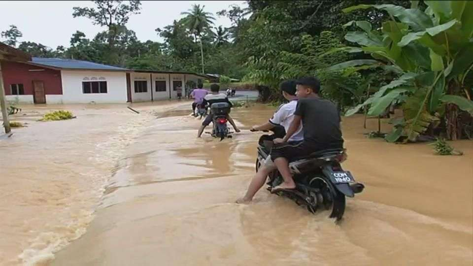 Enormes inundaciones en Malasia