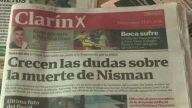 Argentinos creen que Nisman fue asesinado