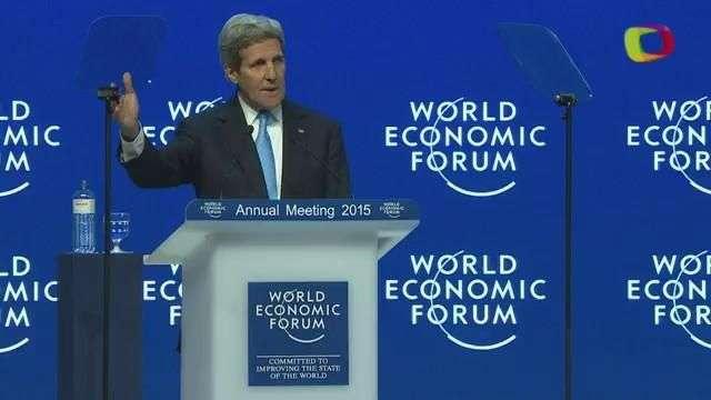 John Kerry defiende lucha contra el terrorismo en Davos