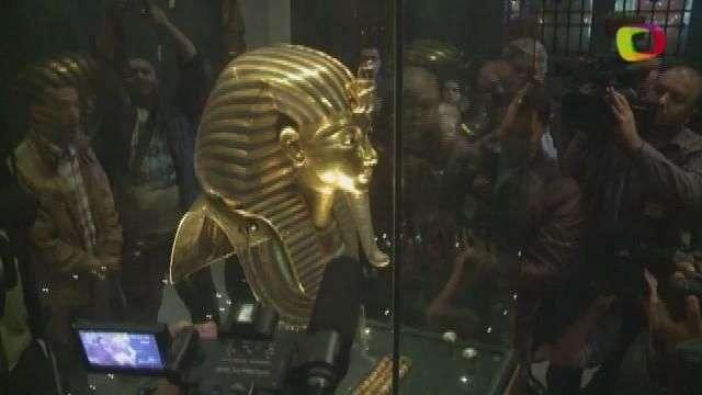 Salvarán la barba de Tutankhamon