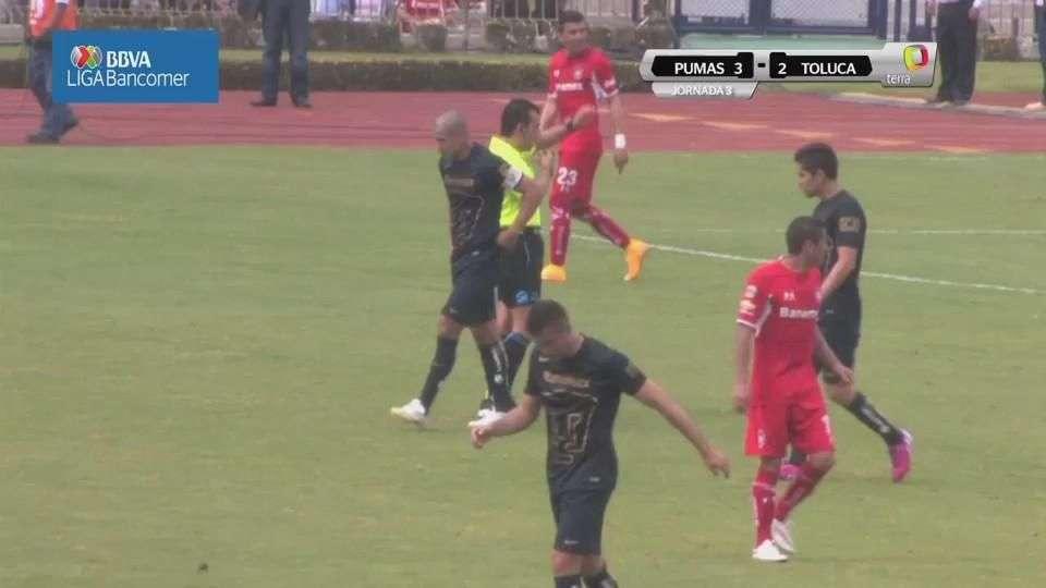 Jornada 3, Pumas 3-2 Toluca, Clausura 2015