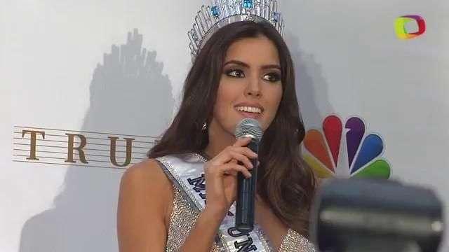 Paulina Vega, Miss Universo 2015, da su primer discurso