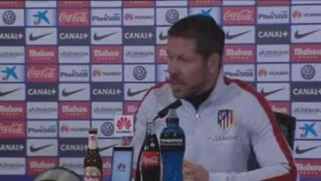 """Simeone: """"Vivir cada minuto como el último del partido"""""""