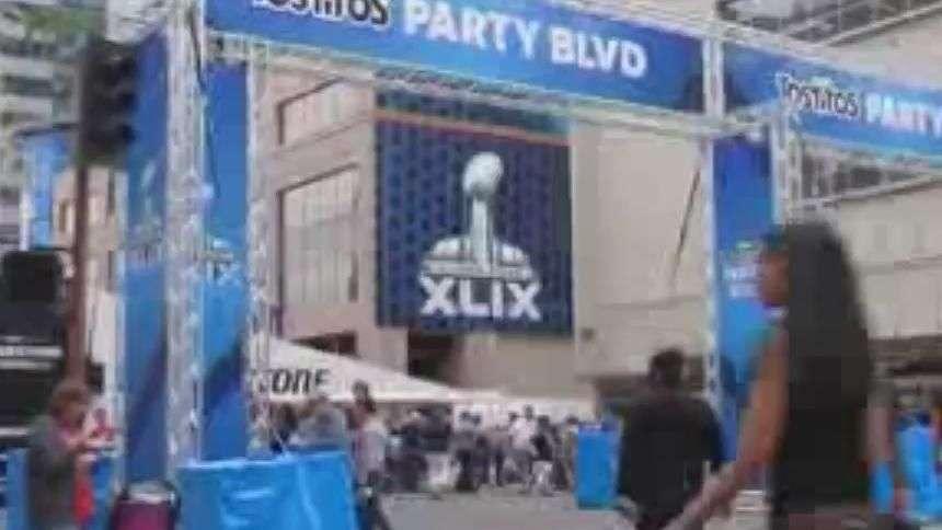 La fiesta del Super Bowl XLIX inunda Phoenix