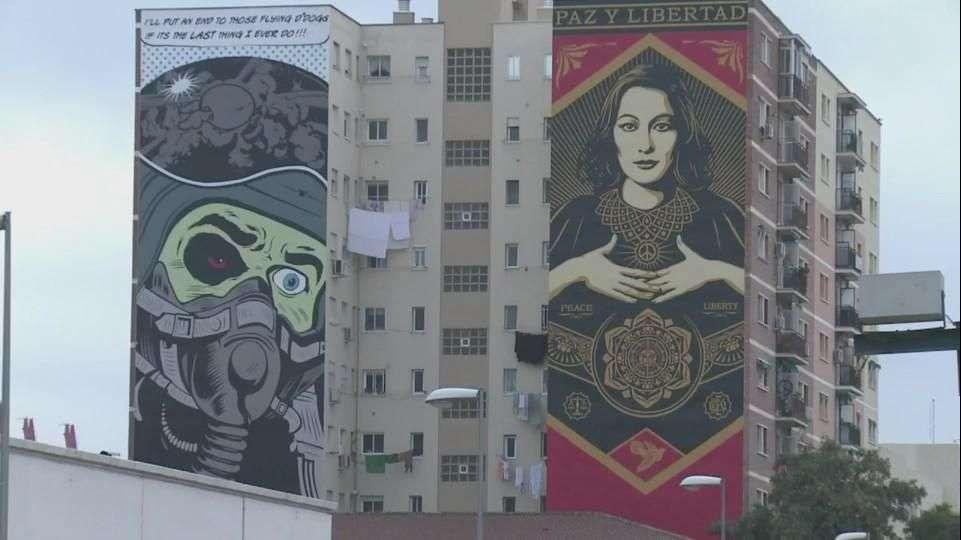 Málaga se engalana con arte callejero
