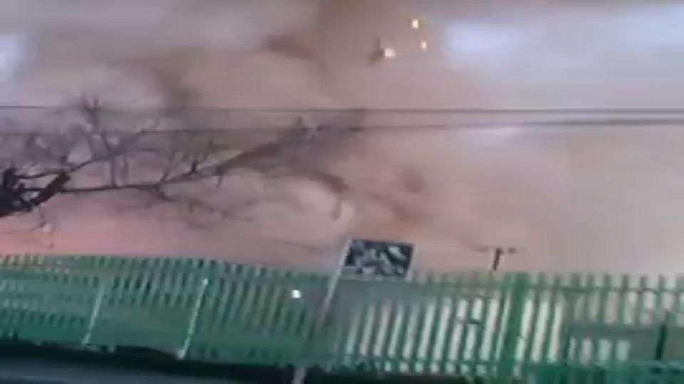 Video del momento de la explosión en el hospital materno...