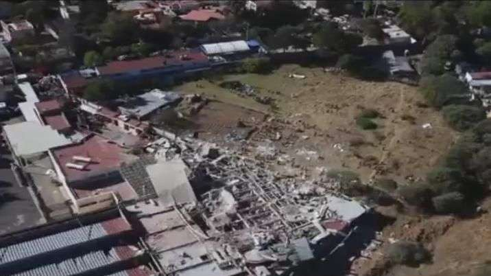 Imágenes áereas de rescate tras explosión en Cuajimalpa