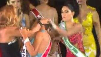 Berrinche! Arrancan la corona a Miss Amazonas 2015