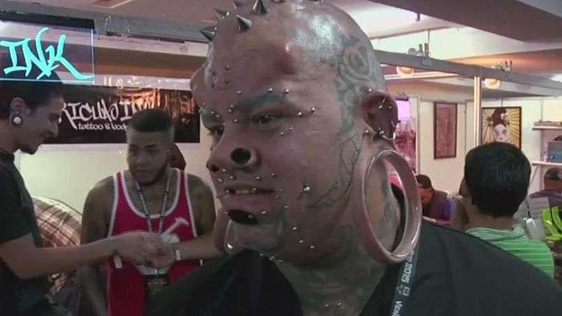 Tatuadores y aficionados sorprenden en Venezuela Expo Tattoo