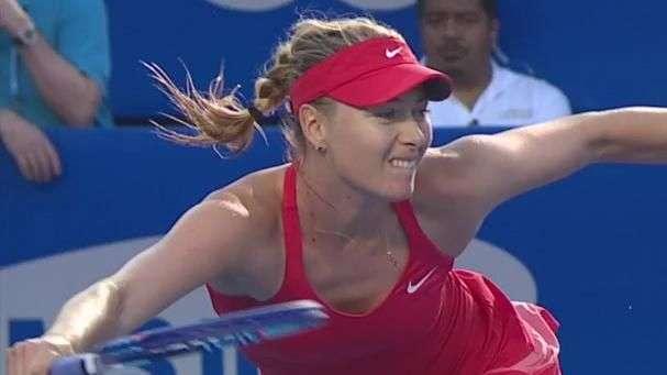 Sharapova hechiza al público con su mejor tenis