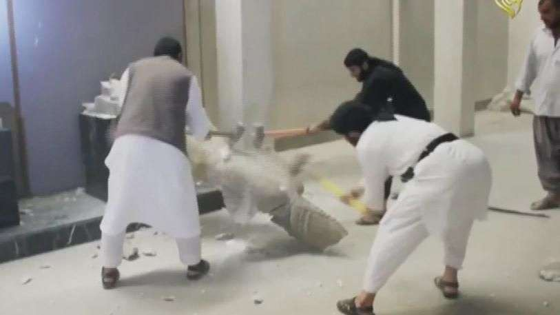 Estado Islámico destruye reliquias en museo de Irak