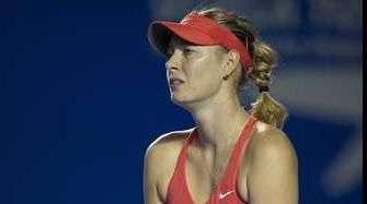 Sharapova avanzó pero virus la retira del Abierto Mexicano