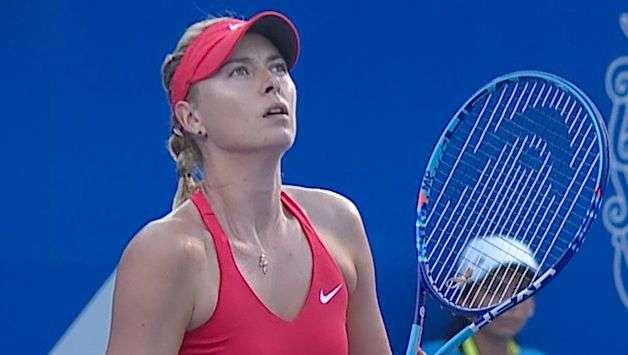 Sharapova enferma y se retira del Abierto Mexicano