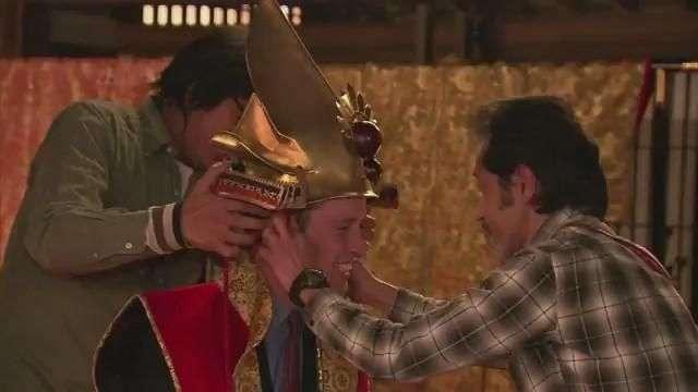 El príncipe Guillermo se viste de samurái