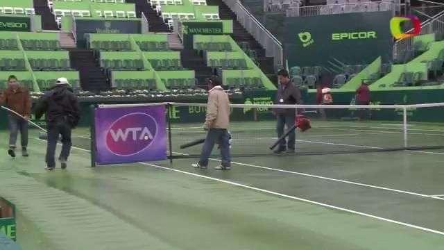 Lluvia cancela jornada en el Abierto de Tenis Monterrey
