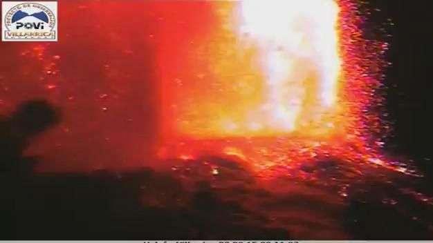 Segundo a segundo: Erupción completa del volcán Villarrica