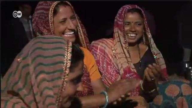 Mujer: Internet en las zonas rurales de India