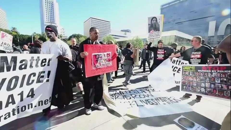 Protestan en EU por indigente muerto a manos de la policía