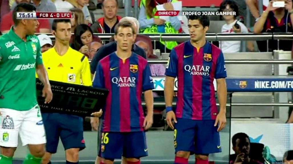 Luis Suárez debuta con el Barcelona en partido amistoso