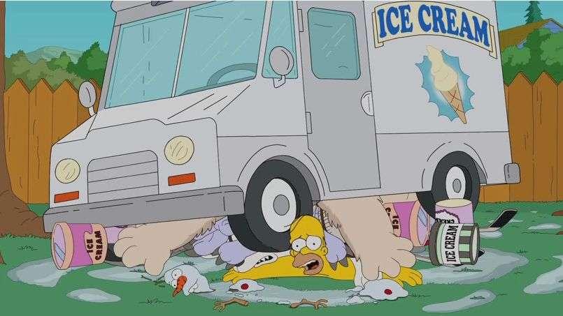 Homero Simpson y su peculiar reto del Ice Bucket Challenge