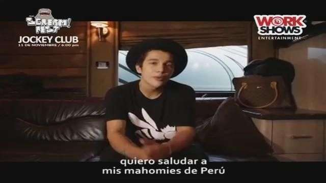 Austin Mahone manda saludos a sus fans peruanos