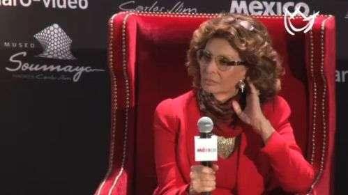 Sophia Loren celebra 80 años en México ¡con Slim!