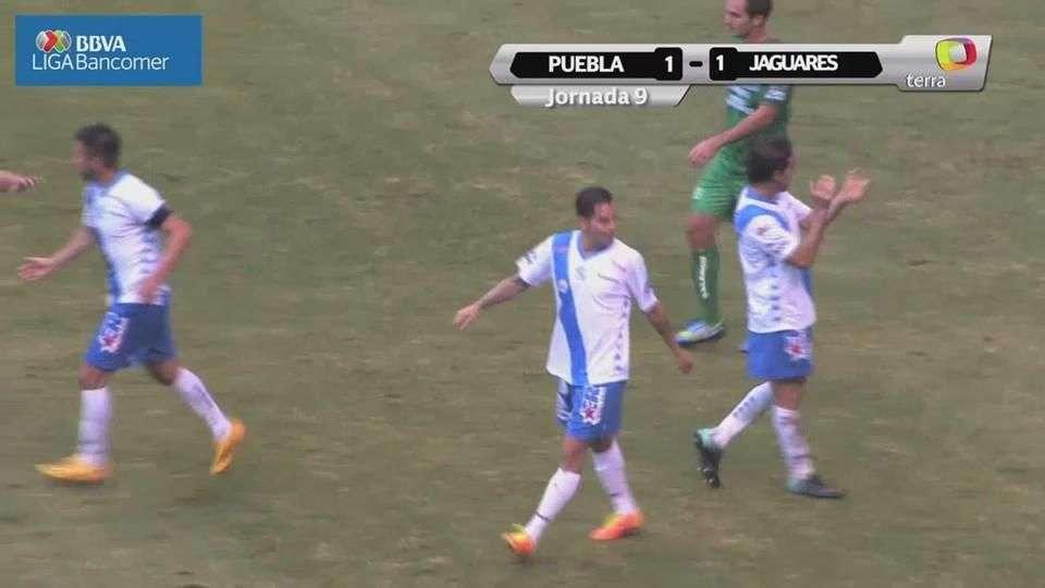 Jornada 9, Puebla 1-1 Jaguares, A pertura 2014