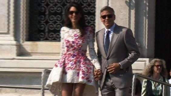 Primer día de casados de Clooney y Alamuddin
