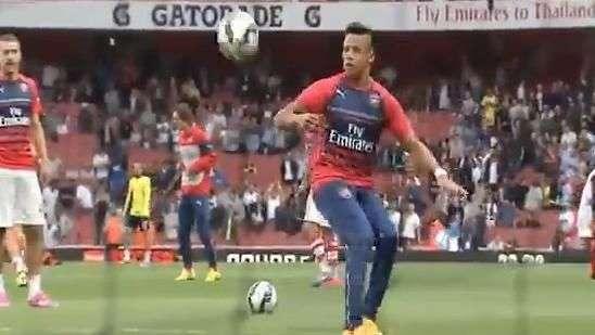 Alexis Sánchez lució todo su talento en previa del Arsenal