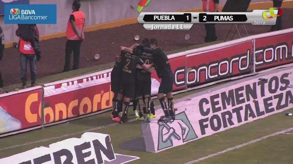 Jornada 11, Puebla 1-2 Pumas, Apertura 2014