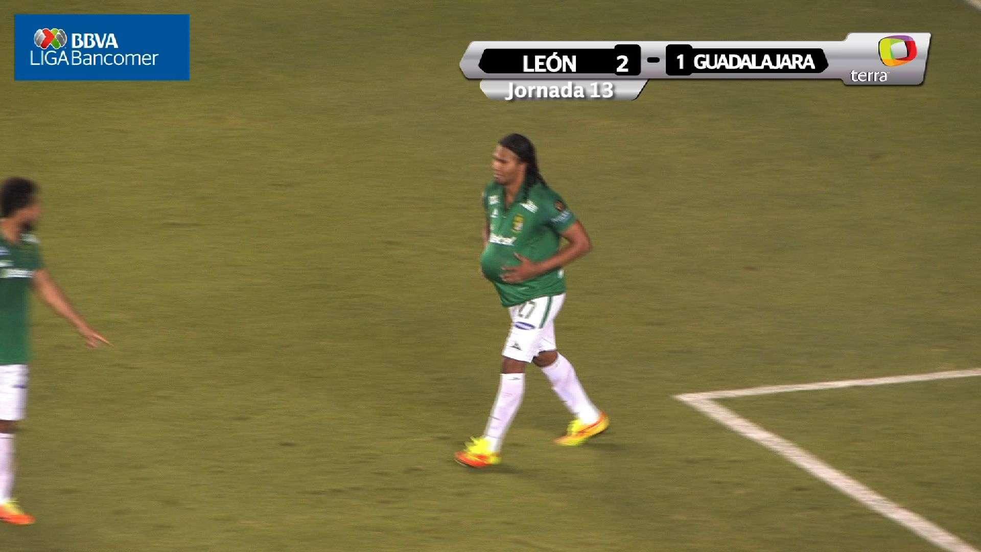 Jornada 13, León 2-1 Guadalajara, Apertura 2014
