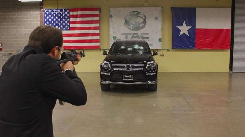 Video: Mercedes-Benz vs AK-47