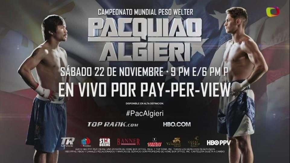 Algieri rumbo a la pelea más grande de su vida contra Pacquiao