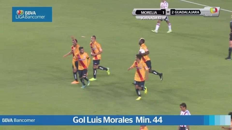Jornada 17, Morelia 1-2 Guadalajara, Apertura 2014