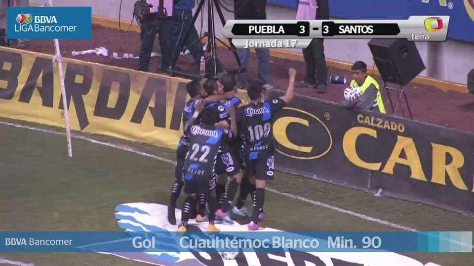 Jornada 17, Puebla 3-3 Santos, Apertura 2014