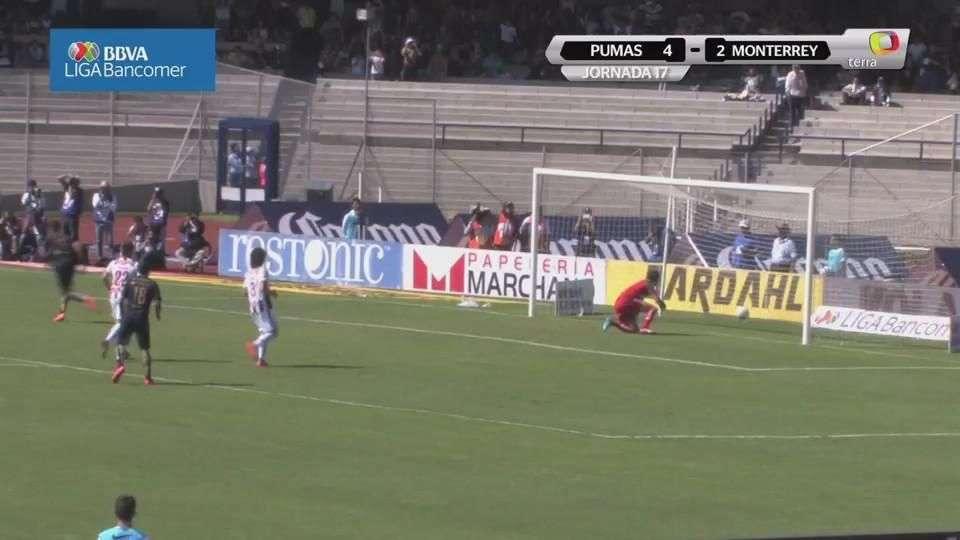 Jornada 17, Pumas 4-2 Monterrey , Apertura 2014