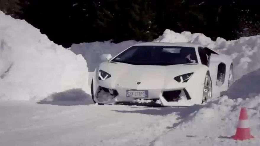 Conducción en nieve con Lamborghini Huracan