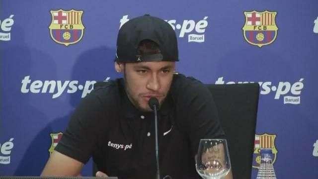 """Neymar """"feliz"""" de jugar con Messi"""