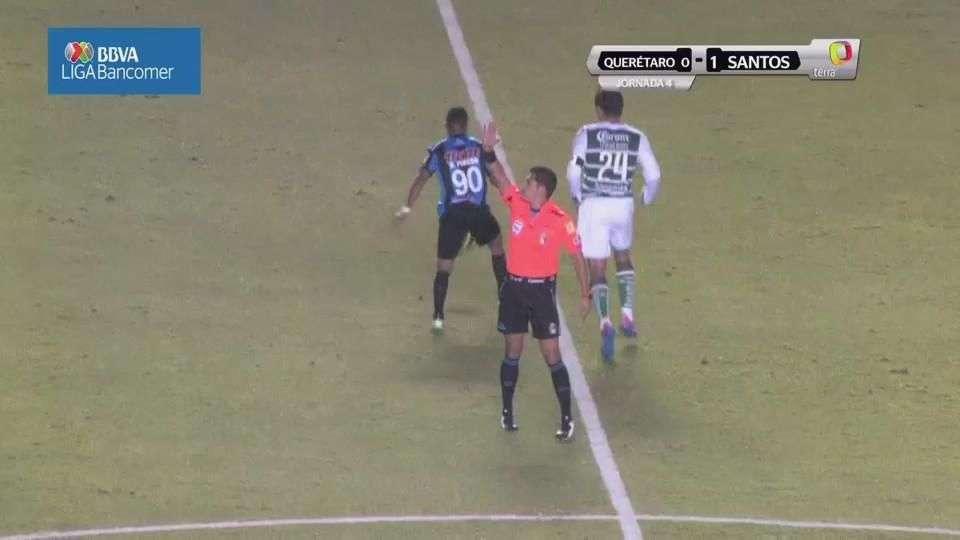 Jornada 4, Querétaro  0-1 Santos, Clausura 2015