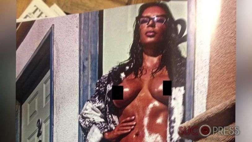 Kim Kardashian sin pudor, así su desnudo frontal