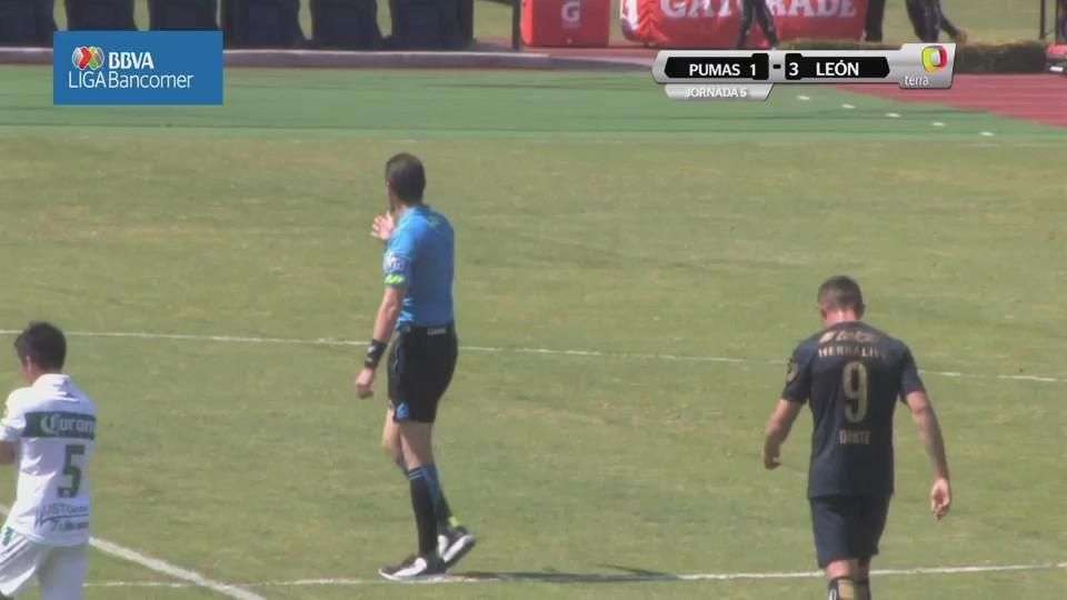 Jornada 5, Pumas 1-3 León, Liga Mx, Clausura 2015