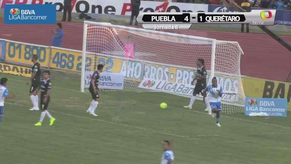 Jornada 8, Puebla 4-1 Querétaro, Clausura 2015