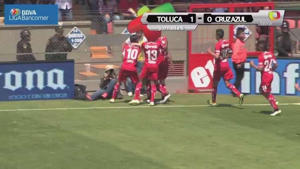 Jornada 8, Toluca 1-0 Cruz Azul, Clausura 2015