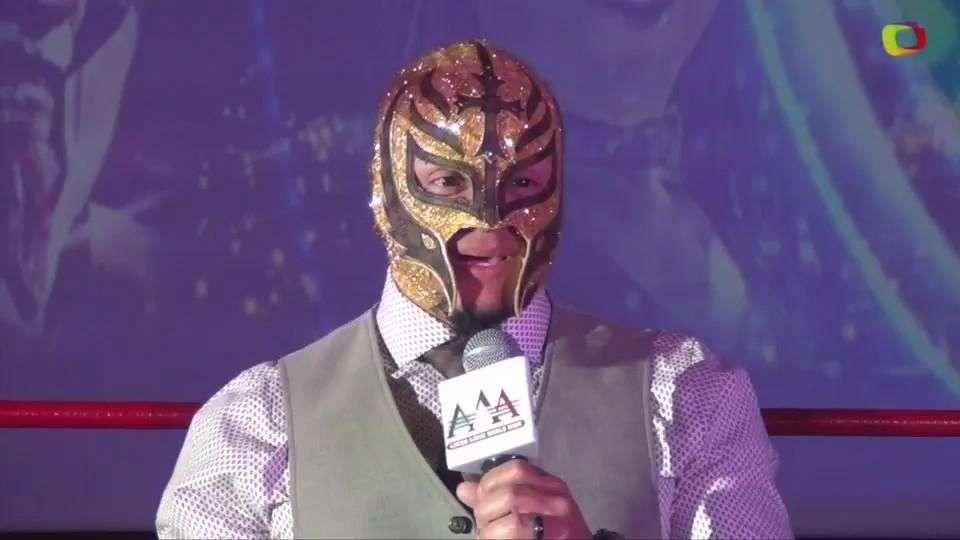 La familia AAA le da la bienvenida a su nuevo elemento: Rey Mysterio Jr.